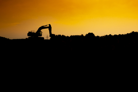 on a warm afternoon i saw this excavator.
