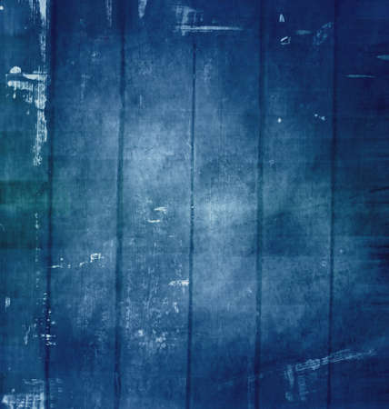 Old grunge scratched texture, dark blue background. photo