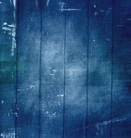 Vieux grunge griffé texture, fond bleu foncé.