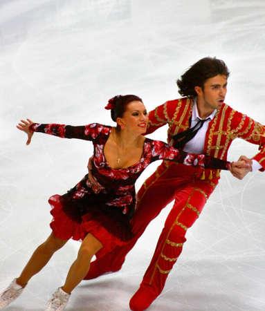 ISU European Figure Skating Championship 2009 in Helsinki, Finland. Anna Zadorozhniuk and Sergei Verbillo from Ukraine in Ice Dance Free program. Hartwall arena, 23.01.2009