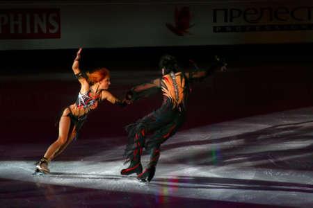 ISU European Figure Skating Championship 2009 in Helsinki, Finland. Jana Khokhlova and Sergei Novitski from Russia in Exhibition Gala performance. Hartwall arena, 25.01.2009 Stock Photo - 9397155