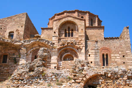 Old church on upper town in Monemvasia, Greece