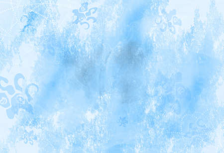 Winter  Christmas old grunge paper with textured light blue background. photo