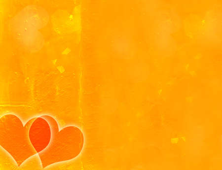 Grunge scratched texturebackground with two hearts photo