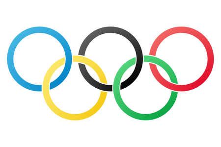 deportes olimpicos: S�mbolo ol�mpico aislada sobre fondo blanco