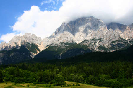 High mountains on the road in Italy