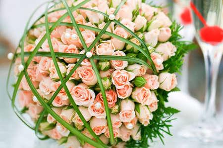 Wonderful wedding luxury bouquet of roses. Stock Photo - 12904637