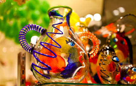 Famous venetian colorful souvenir from murano glass  Stock Photo