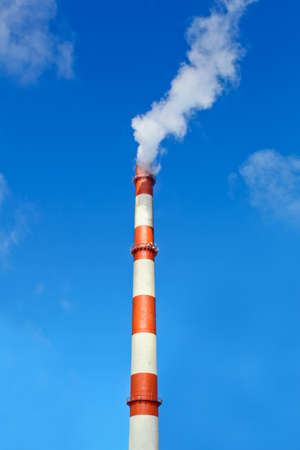 redbrick: Heavy industry makes problems with a global warming. Smoke and steam cause environmental pollution destroying the nature.