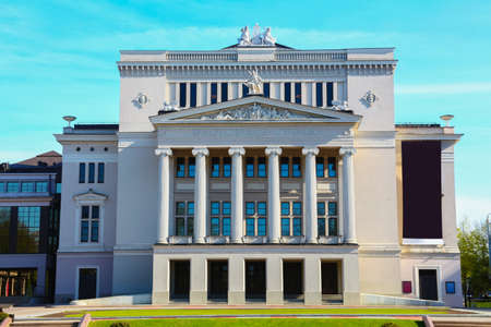 Latvian National Opera and Ballet Theater in Riga, Lettland Standard-Bild - 19298678