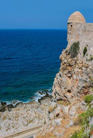Fortezza of Rethymno at island of Crete, Greece with beautiful Mediterranean sea Standard-Bild