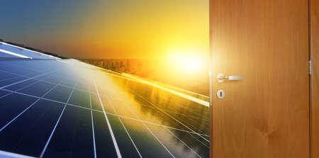 Opening the door to clean solar energy Zdjęcie Seryjne