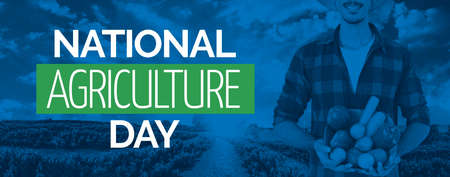 Farmer midsection at countryside - Concept Image for National Agriculture Day