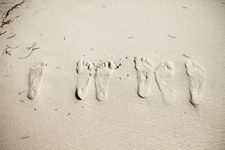footprints on the sand Stock Photo - 9028544
