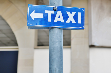 Taxi traffic sign