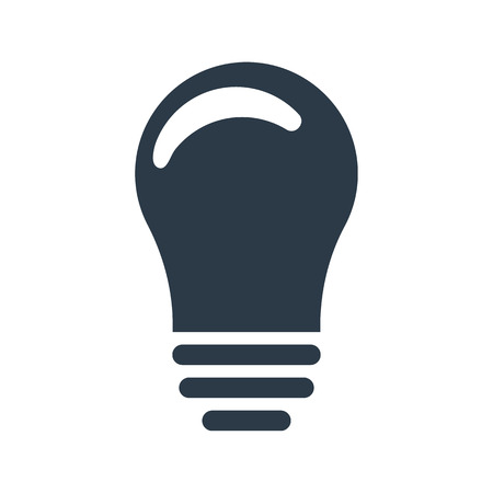 Lightbulb icon. Idea sign, solution, thinking concept. Vector illustration isolated on white background.