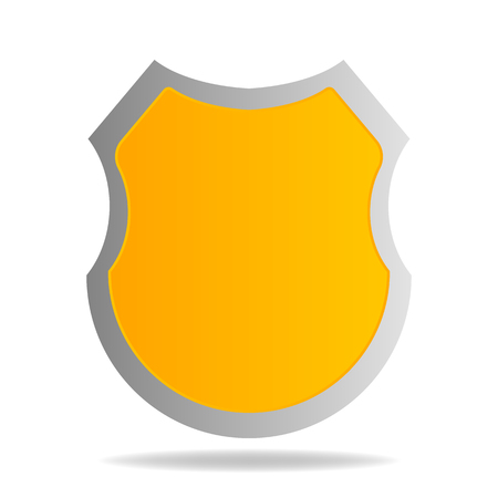 Vector shield icon isolated on white background. Security icon. Protection icon. Vector illustration for your design Illusztráció