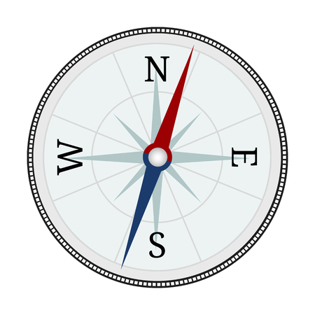 Compass icon. Compass isolated on white background. Travel equipment. Vector illustration for your design