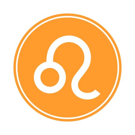 Leo Icon. Vector Astrological, Horoscope Sign. Zodiac Symbol. Fire Element. Sticker. Vector illustration isolated on white background. Ilustrace