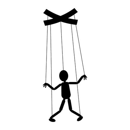 Marionet pictogram. Het concept van beheer, manipulatie. Vectorillustratie voor uw ontwerp.