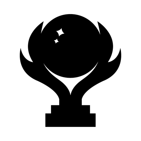 Vector winner trophy cup icon. Black silhouette of award isolated on white background. Clean and modern vector illustration for design, web.