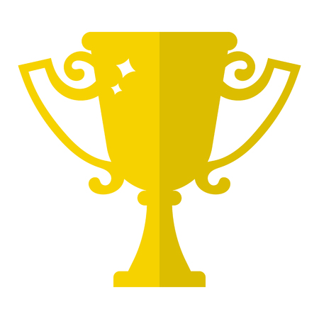 Vector Winner Trophy Cup Icon. First Place. Flat Golden Trophy isolated on white background. Vector illustration for Your Design, Web. Ilustrace