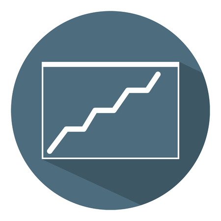 Growing Chart Icon. Business Concept. Schedule. Flat Style. Vector illustration for Design, Web, Infographic. Illustration
