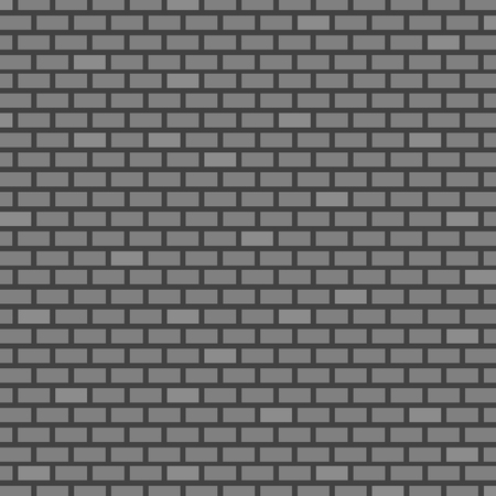Brick Wall Background. Grey Colors. Vector illustration for Your Design.