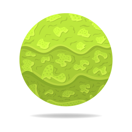 Vector Magic Sphere with Shadow. Green Abstract Ball. Paper Effect. Vector illustration for Your Design, Web.
