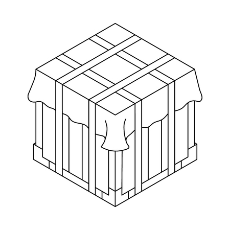 Isometric container. Battle royal concept. Clean and modern vector illustration for design, web. Illusztráció