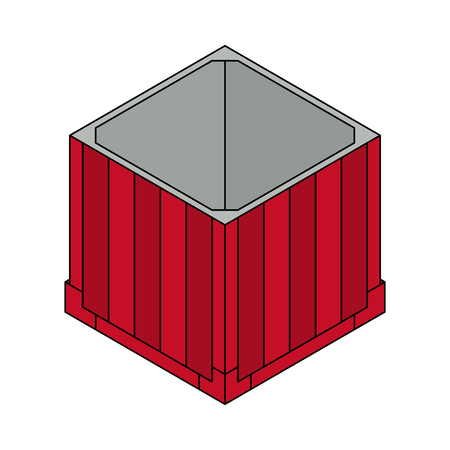 Open air drop box Isometric container. Battle royal concept. Clean and modern vector illustration for design, web.