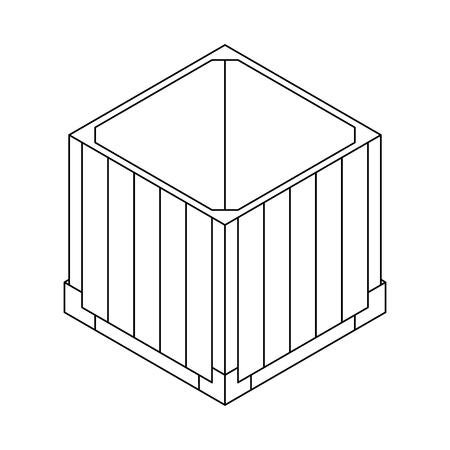 Outline open air drop box. Clean and modern vector illustration for design, web. Illusztráció