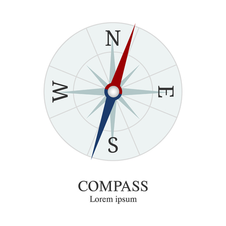 Compass icon. Travel company   template. Abstract symbol of adventure. Clean and modern vector illustration.