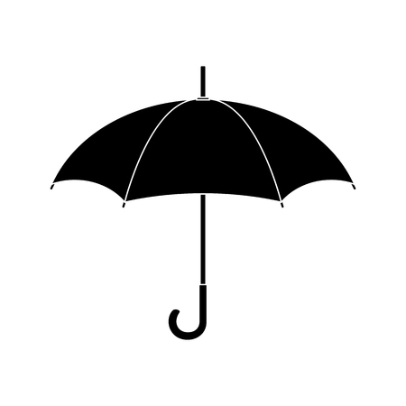 Black silhouette of umbrella. Security, protection concept. Clean and modern vector illustration for design, web.