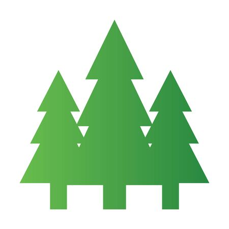 Green fir tree icon isolated on white background. Environment concept. Vector illustration for any design. Ilustração