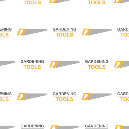 Seamless pattern with cartoon hand saws on white background. Gardening tool. Vector illustration for any design. Vettoriali