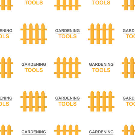 Seamless pattern with cartoon garden fence on white background. Gardening tool. Vector illustration for any design. Vettoriali