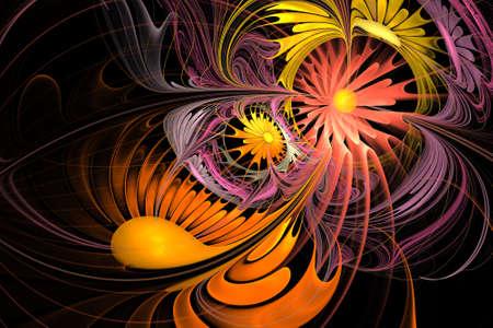 abstrakt: Computer-generated image of abstrakt fractal flower
