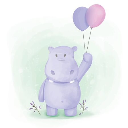 adorable baby animal illustration for nursery, baby shower, and prints
