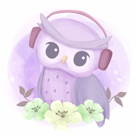 Cute Illustration Baby Animal for Nursery, Baby Shower, and Prints