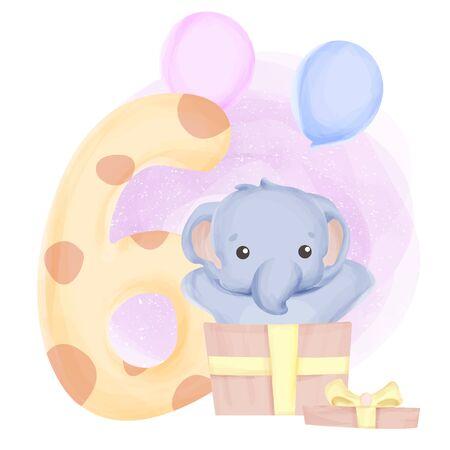 Isolated cute animal illustration for kids Ilustração