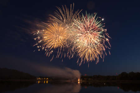 blacks: Fireworks go off over Blacks Creek in Quincy, MA.