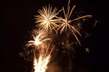 revere: Fireworks go off over the beach in Revere MA.