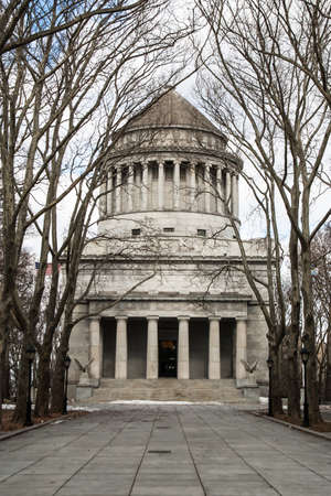grants: The front of Grants Tomb in New York City.