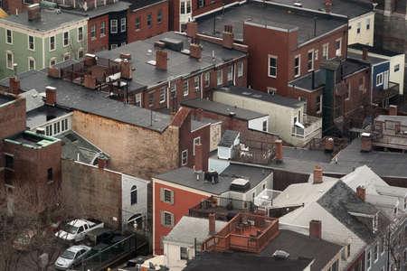 Homes in the Charlestown neighborhood Boston.