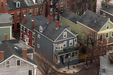 Homes in the Charlestown neighborhood Boston.