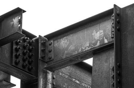 Steel girders used in new building construction. Reklamní fotografie