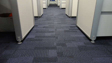 Blue color fabric background. Dark blue carpet pattern interior for the office design
