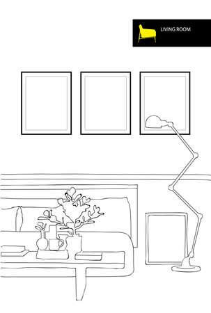 Vector living room Stock Vector - 22678509