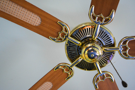 Ceiling fan inside the Home Stock Photo
